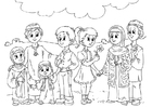 Coloring pages Western children in Muslim culture