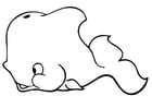 Coloring page whale