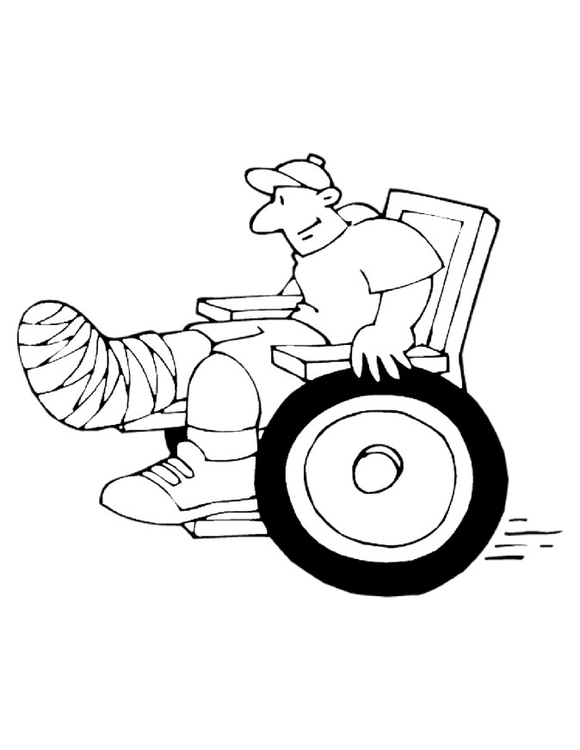 Coloring page wheelchair