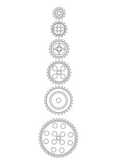 Coloring page wheels