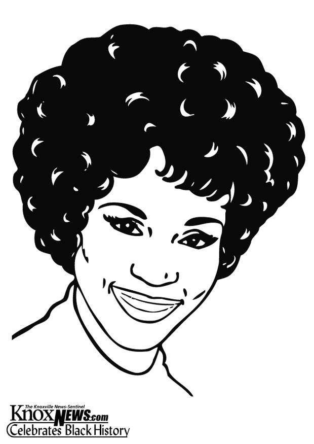 Coloring Page Whitney Houston Free Printable Coloring Pages