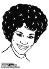 Coloring page Whitney Houston