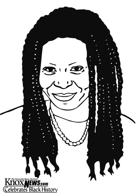 Coloring page Whoopi Goldberg