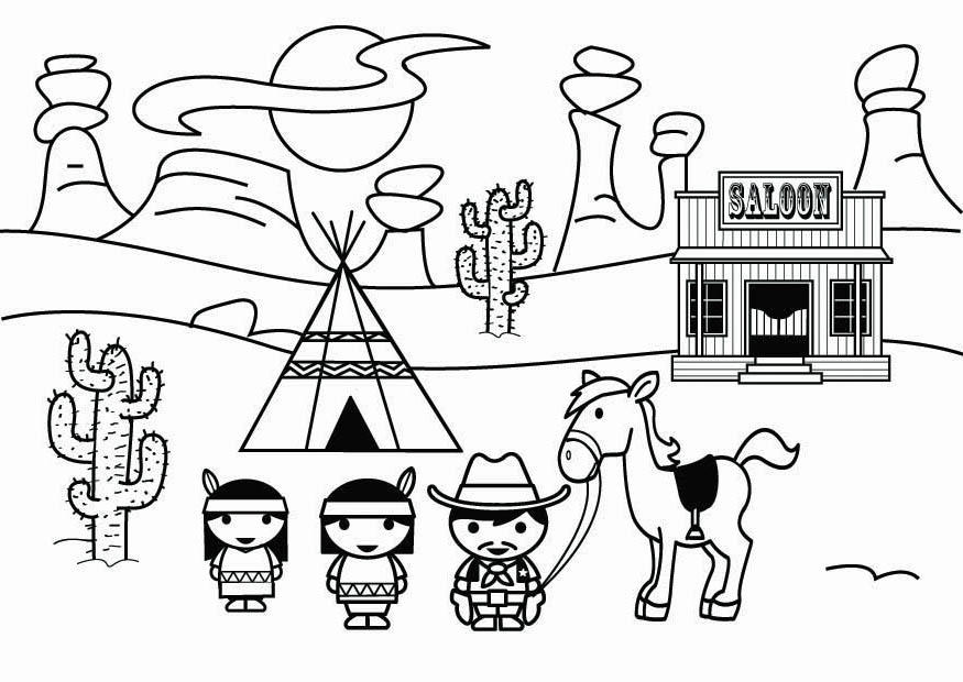 coloring book western pages - photo#5