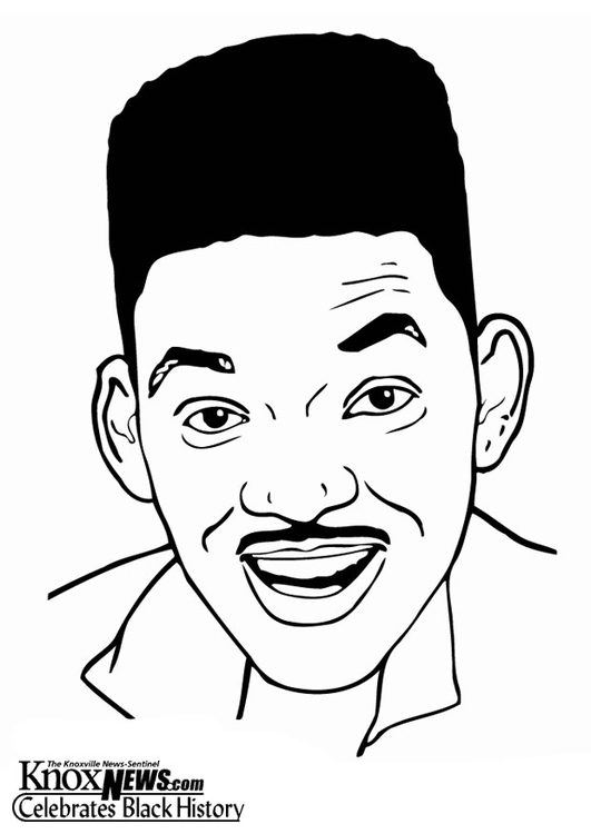 Coloring page Will Smith