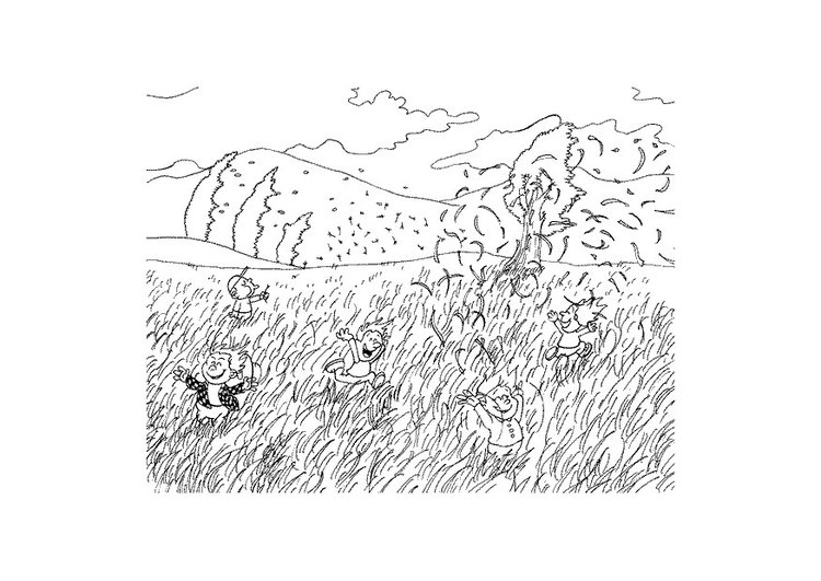 Coloring page wind
