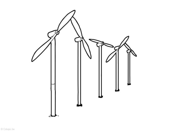 Coloring page Wind Energy