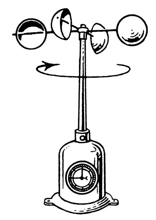 Coloring page wind-gauge