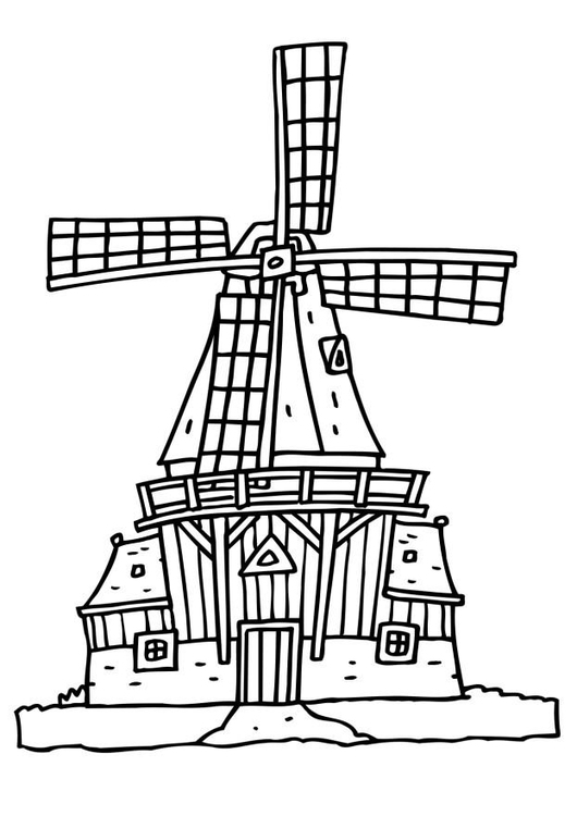 coloring page wind mill free printable coloring pages