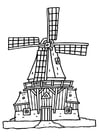 Coloring page wind mill
