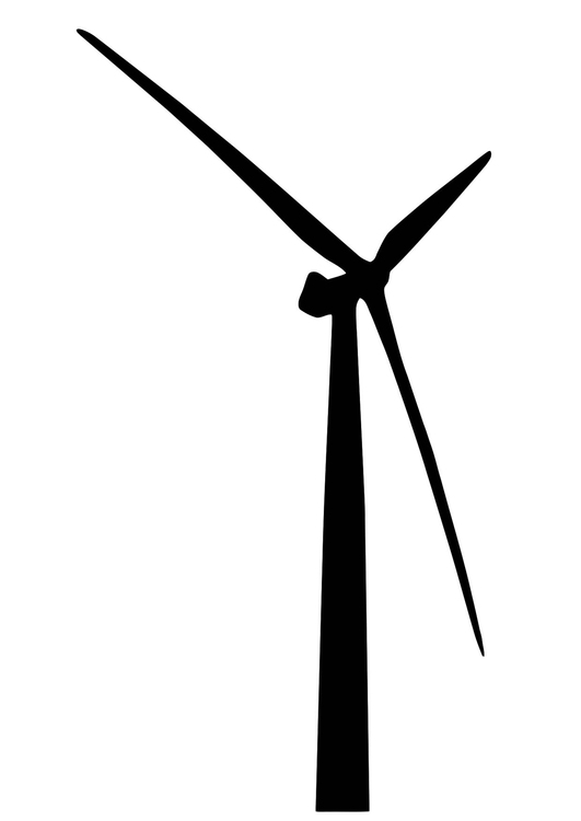 Coloring page wind turbine