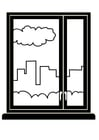 Coloring pages window