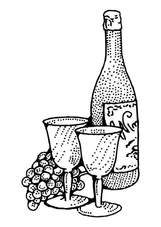 Coloring page Wine