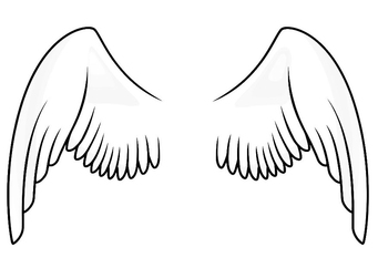 Coloring page wings