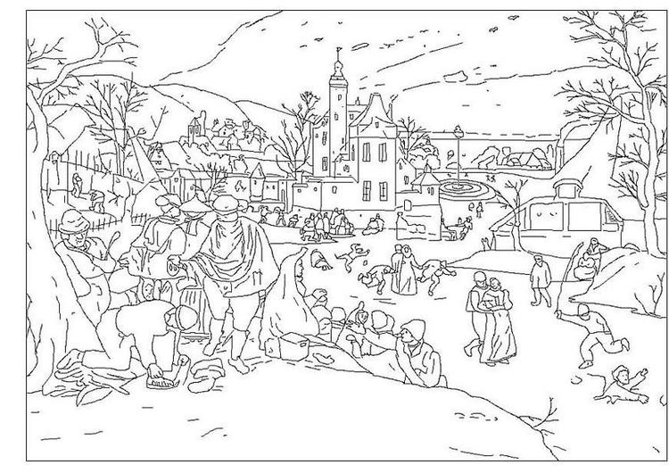 Coloring page winter -Abel Grimmer