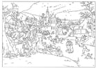 Coloring page winter - Abel Grimmer