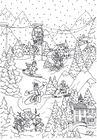 Coloring pages winter sports