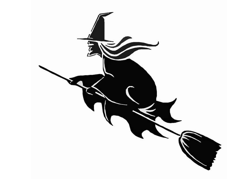 Coloring page witch - img 8583.