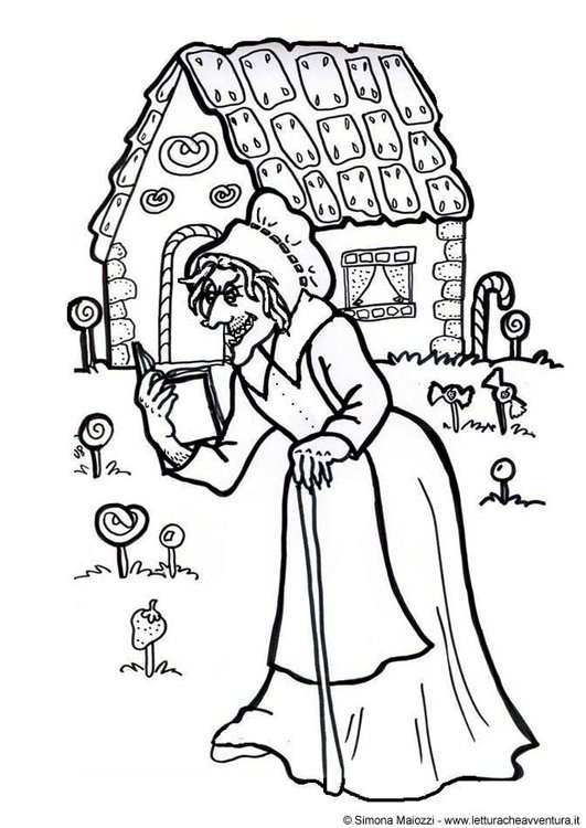 Coloring page witch
