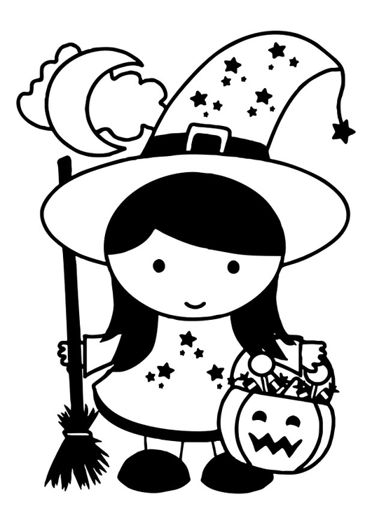 Coloring page witch - img 30389.
