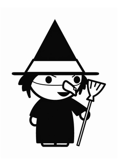 Coloring page witch Halloween