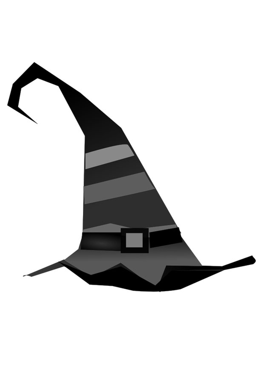 Coloring page witch hat