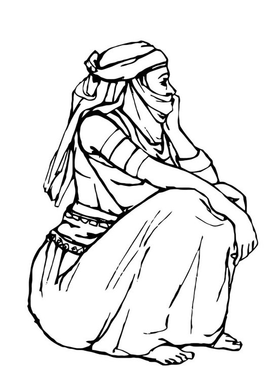 Coloring page woman