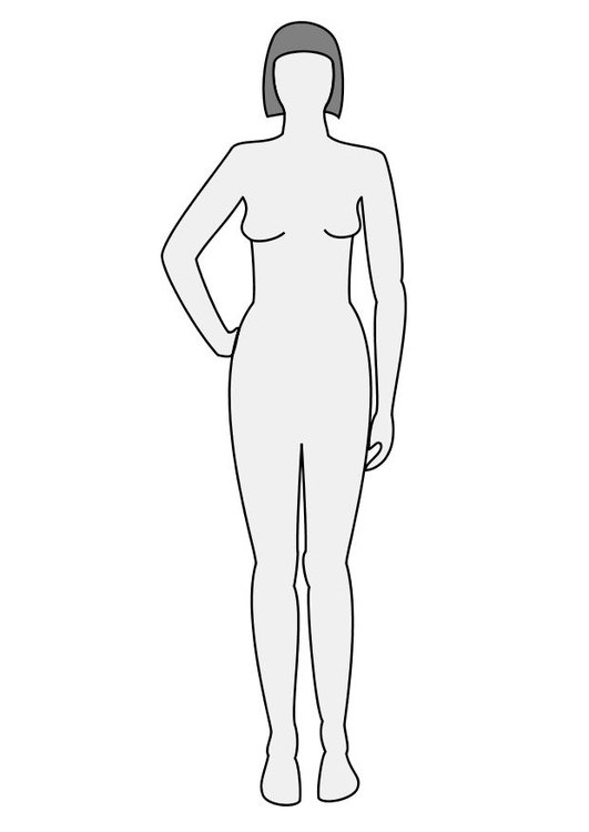 Coloring page woman front