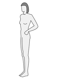 Coloring page woman profile