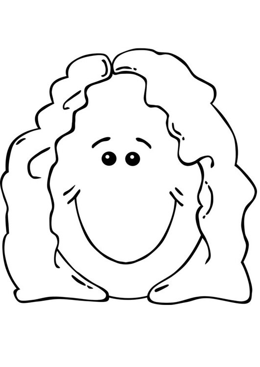 coloring page womans face - Coloring Page Woman