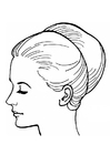 Coloring pages woman's head