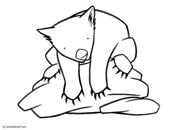 Coloring page wombat - img 5609.