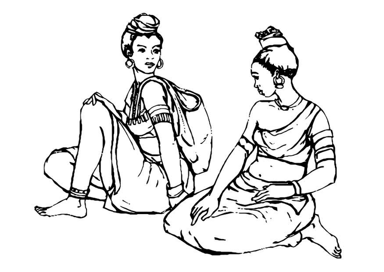 Coloring page women