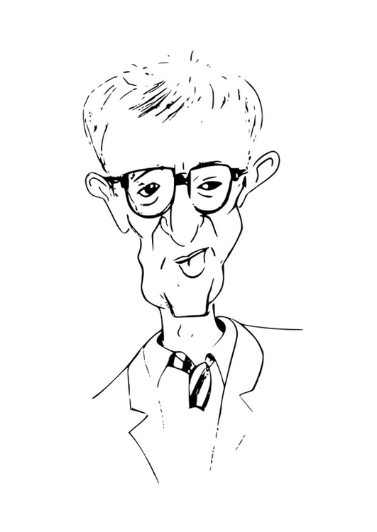 Coloring page Woody Allen