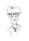 Coloring pages Woody Allen