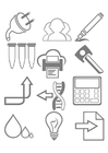 Coloring pages work tools