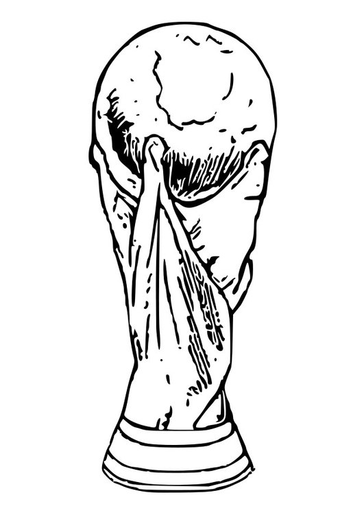Coloring page World Cup trophy