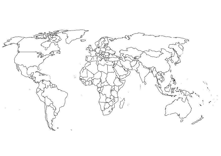 Coloring page world map img 8110 download large image gumiabroncs Choice Image