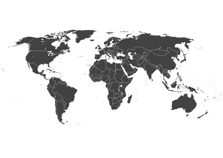 Coloring page World map