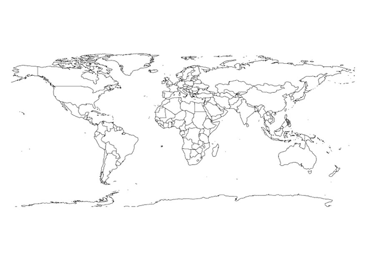 Kinder Wereldkaart Kleurplaat Coloring Page World Map Img 27645 Images