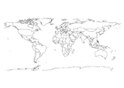 Coloring pages world map