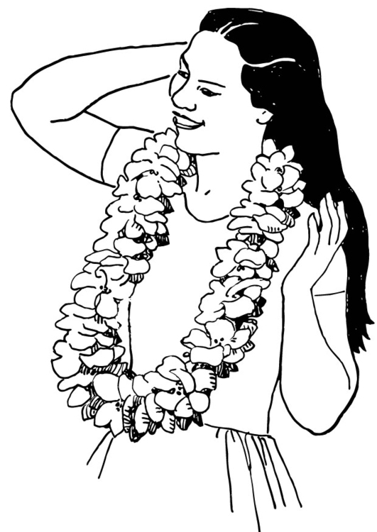 Coloring page Wreath of Flowers