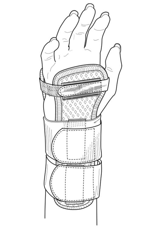 Coloring page wrist guard