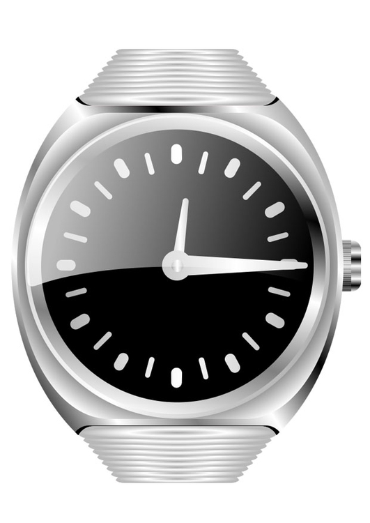 Coloring page wrist watch