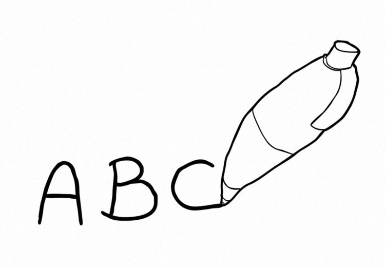 Coloring page Write