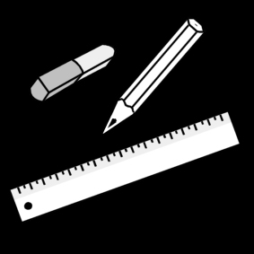 Coloring page writing tools
