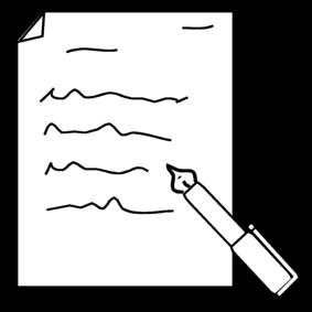 Coloring page writing