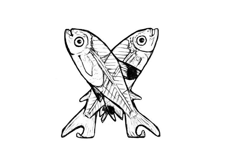 Coloring page x-x-ray fish