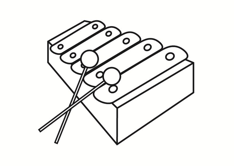 Coloring Page Xylophone Img 23334