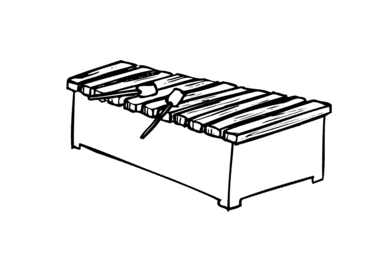 Coloring Page Xylophone Img 9596